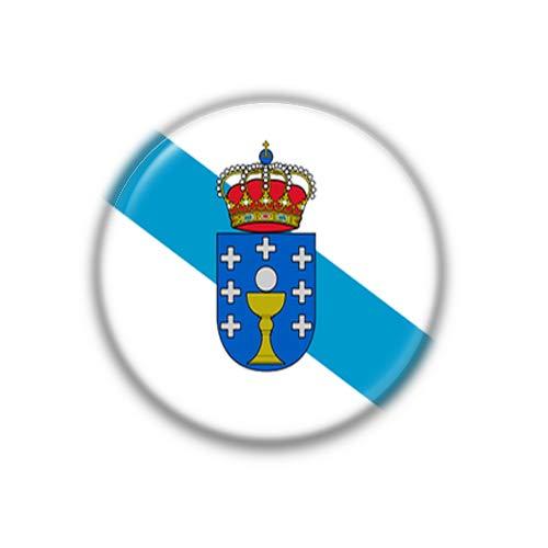 Galicia : Bandera Comunidad Autonoma Española, Pinback Button Badge 1.50 Inch (38mm)