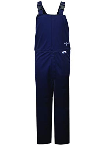 National Safety Apparel C45UPLG32 ArcGuard HRC 2 Arc Flash Bib Overall, Large, Navy