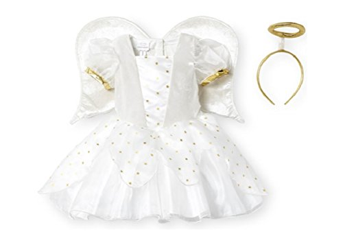 Koala Kids Baby White Angel Costume with Plush Wings & Halo (12-18 Months)