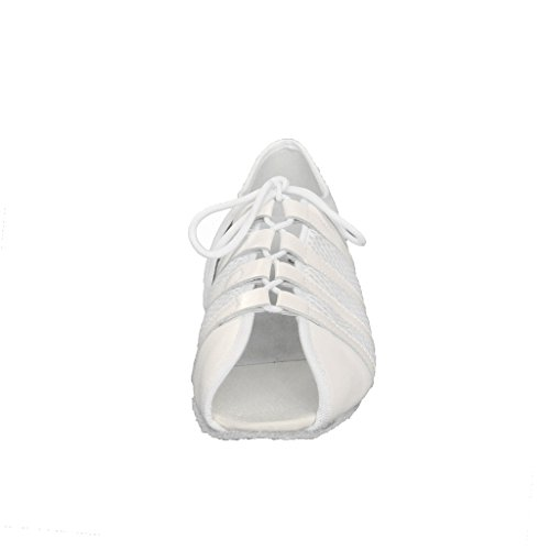 Jig Foo Latin Salsa Rumba ChaCha Praxis Ballroom Dance Schuhe für Frauen Weiß