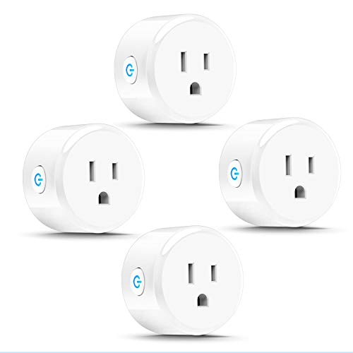 Price comparison product image Anbes DL40002883 Wi-Fi Mini Outlet Plug Smart Socket Works with Amazon Alexa Echo, Google Home and IFTTT, ETL and FCC Listed, No Hub Required (4 Pack)