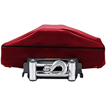 Heavy Duty Winch Cloth Cover Big Size and Satisfaction Guarantee Purchase Winch Protection Cover Ideal for Electric Winches Up to 17500 Lbs Waterproof Winch Dust Cover Winch Cover