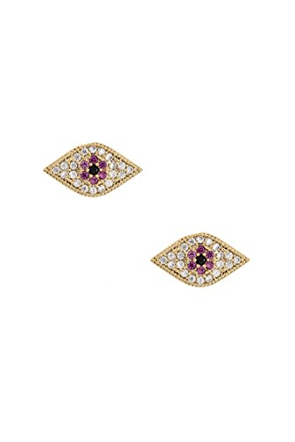 Earring Post Ayala (Trendy Fashion Jewelry CZ Stone Pave Evil Eye Post Earring By Fashion Destination | (Siam))