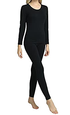Hamour Womens' Winter Warm Thermal Long Underwear Top and Bottom Set