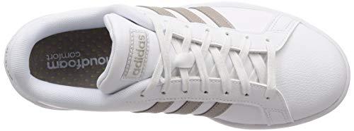 White Grand Femme platin Chaussures ftwr Met ftwr White Court Mehrfarbig Adidas F36485 Running De A7CxRF