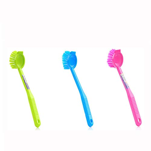 Kitchen Utensil Cleaning Brush Long handle Can be hung Pot D