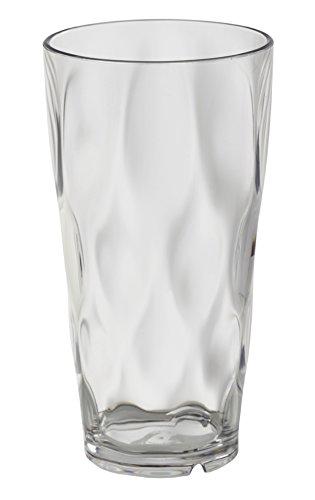 Creative Bath Glass Blocks - CreativeWare ICE28-4 ICE28 Ice Blocks 28 oz Tumblers (Set of 4), 1, Clear