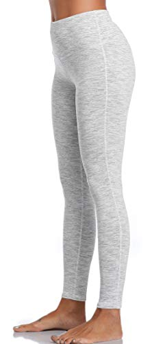 Oalka Women Yoga Pants Workout Running Leggings White S
