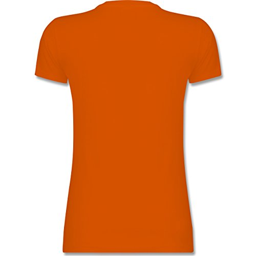 JGA Junggesellinnenabschied - Frauentausch aus Freundin wird Braut - S - Orange - L191 - tailliertes Premium T-Shirt mit Rundhalsausschnitt für Damen