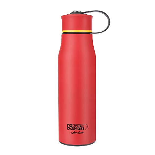 Landnics Water Bottle, Stainless Steel Bottle 520ml(18.3oz), Double Wall Thermos, BPA Free Drinking Bottle, Thermal Flask 12 Hrs Hot, 24 Hrs Cold for Camping, Hiking, Office