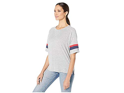 Champion Women's Gym Issue Football Tee, Oxford Gray Heather, Small
