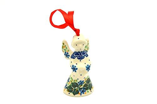 (Polish Pottery Ornament - Angel - Ivy Trail)