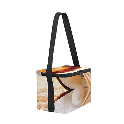 de Bolsa Cooler de playa para almuerzo hombro picnic Seashells fiambrera de correa Starfish gUnUq6BET