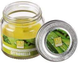 Regalo Italiano Candela Citronella Profumata in Barattolo di Vetro 6 cm
