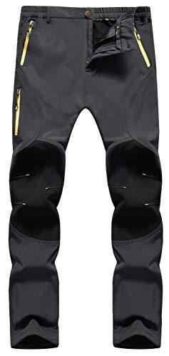 Singbring Men's Outdoor Lightweight Quick Dry Waterproof Hiking Mountain Pants Medium Gray(05B) (Best Mens Climbing Pants)