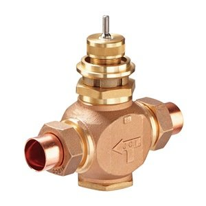 Globe Valve, 2-Way, NO, 1 In, Union from Johnson Controls, Inc.