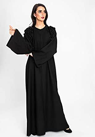 3bayte Leafy style embroidered designed casual abaya for women