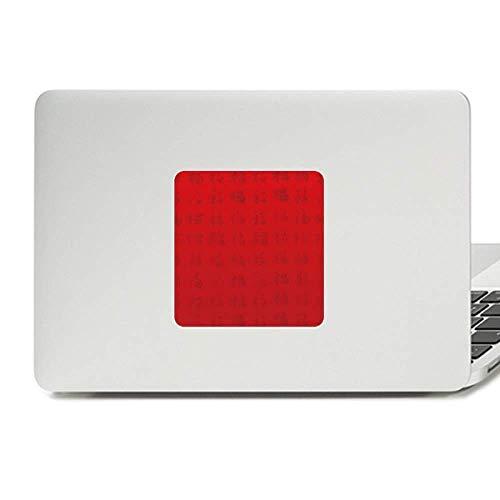 China Fook Red Patriotism Harmony Decal Vinyl Skin Laptop Sticker PC Decoration