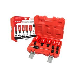 Freud DHS09SGP Diablo 9 Piece High Performance Hole Saw Set For Drilling Wood, Plastic, Aluminum, Metal Stainless Steel, 7/8