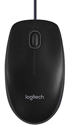 Logitech B100 Optical Mouse For Business Black
