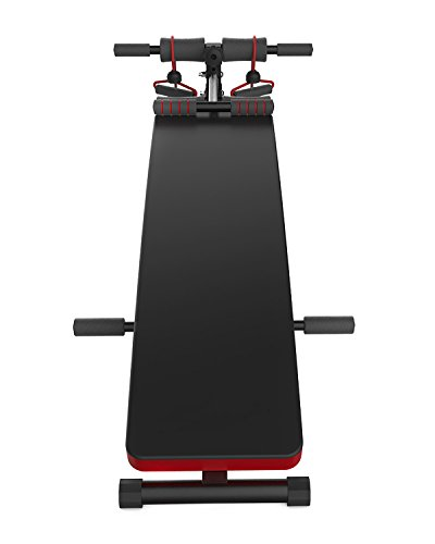 JUFIT Sit up Bench,Adjustable Workout Muti functional ABS Abdominal Exercise Crunch Board BLACK