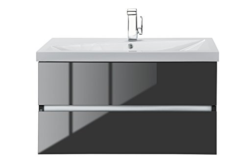 Cutler Kitchen & Bath FVLAVA36 Sangallo 36 in. Wall Hung Gloss Bathroom Vanity, Lava Grey ()