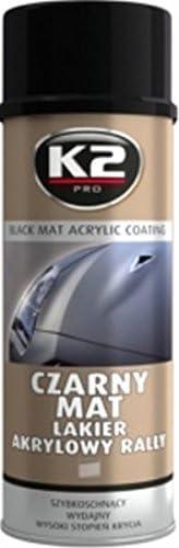 K2 Acryllack Schwarz Matt Schnell Trocken Autolack Spraydose Lackspray 500ml Auto