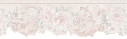 Brewster 426-6314 Classics Floral Scroll Die-Cut Wall Border, 6.25-Inch by 180-Inch (Die Cut Wall Border)