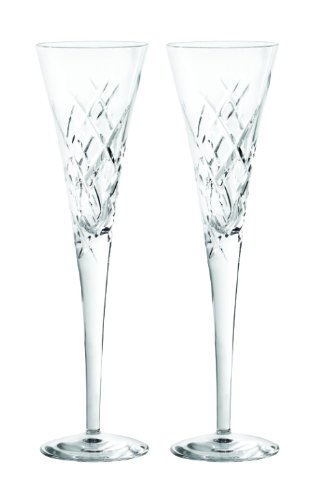 - Vera Wang Wedgwood 5830190045 20th Anniversary Duchesse Encore Clear Flutes Pair