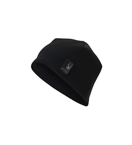 Spyder Men's Bandit Stryke Fleece Hat, Black/Black, Large/X-Large ()