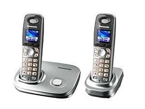 Panasonic KX-TG8012 - Teléfono (DECT, Plata, Auricular, LCD, 143 x 107 x 44 mm, 48 x 34 x 155 mm)