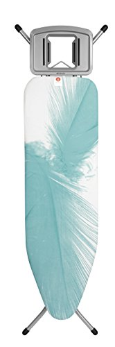 Brabantia Ironing Board with Solid Steam Iron Rest, Size B, Standard - Feathers Cover by Brabantia