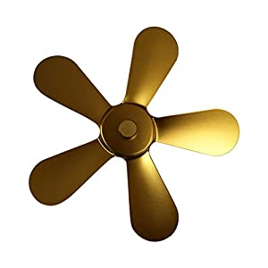 Buyfunny01 Ventilatore per camino in alluminio 5 Adi bruciatore alimentato a calore Living om efficiente caldo basso… 8 spesavip
