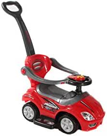 Best Ride On Cars 3-in-1 Ride-On Push Car, Red