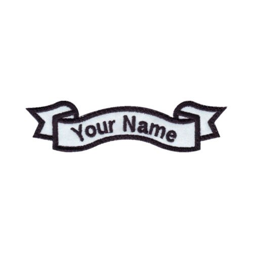 amazon com custom embroidered banner name tag sew on patch d