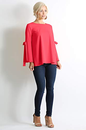 752fc1e319e8bb Flowy Dressy Tops for Women with Bow Sleeves Reg and Plus Size - Made in USA