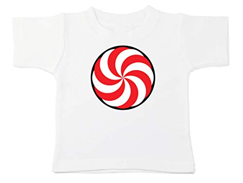 Kinacle Candy Swirl Baby/Toddler T-Shirt (2T, White) -