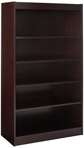 - Lorell 5-Shelf Panel Bookcase, 36 by 12 by 60-Inch, Mahogany