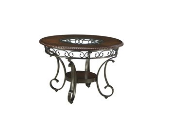 Signature Design by Ashley D329-15 Glambrey Collection Dining Room Table, Brown - Dining Room Round Accent Table