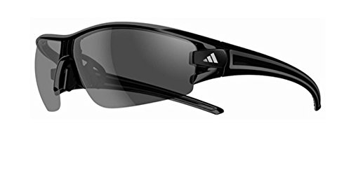 Adidas A402/00 6065 Shiny Black Evil Eye Halfrim L Wrap Sunglasses Cycling, - Adidas Cycling Sunglasses
