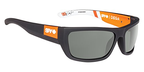 Spy Optic Dega Shield Sunglasses, Happy Gray/Green, 1.5 - Sunglasses Mens Spy Sale