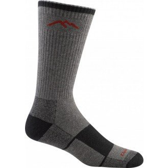 Trek Boot Sock (DT Men's Coolmax Boot Sock Cushion Hike / Trek Socks Gray / Black L 2-PACK)