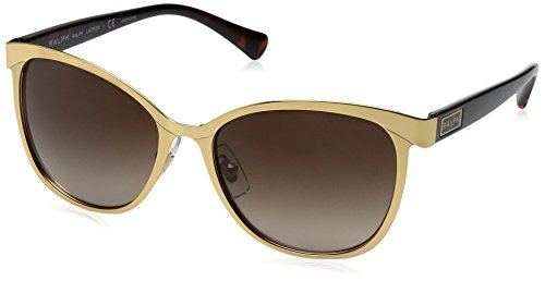 Ralph Lauren Sunglasses Women's 0ra4118 Cateye, Gold/Dark Tortoise, 54 - Ladies Lauren Ralph Glasses
