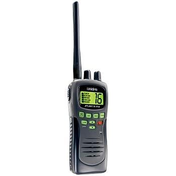 Uniden Atlantis 250BK Black Waterproof Handheld VHF Marine Radio