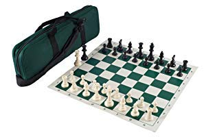 Heavy Tournament Triple Weighted Chess Set Combo - Forest Green ()