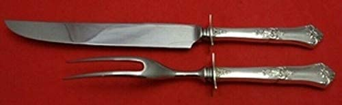 Royal Satin by Wallace Sterling Silver Steak Carving Set 2pc HHWS  10 12
