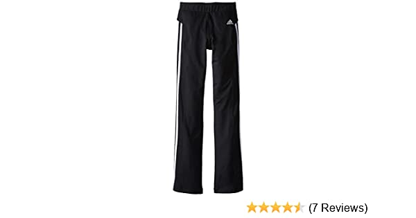 Amazon.com: adidas Girls Big Yoga Pant White Stripes, Black ...