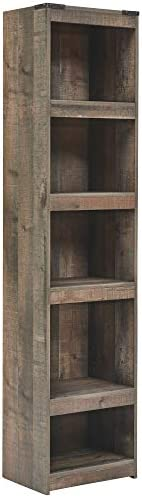 Signature Design through Ashley - Trinell Pier-Style Bookcase with Storage, Brown
