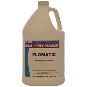 Flo-Kem 0635 Industrial Concrete Floor Cleaner and Degreaser with Mild Scent, 1 Gallon Bottle, Blue