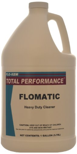 Flo-Kem 0635 Industrial Material Floor Cleaner and Degreaser with Mild Scent, 1 Gallon Bottle, Blue